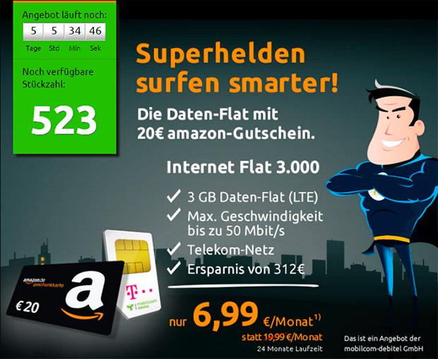 crash-tarife Ttelekom Internet-Flat 3000