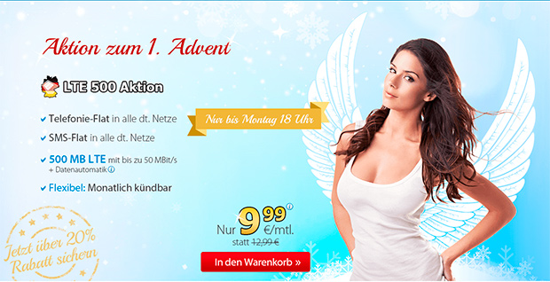 Deutschlandsim LTE 500 Aktion