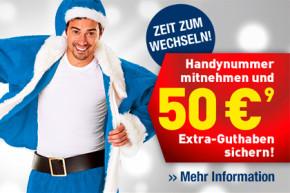 Bis 31. Januar: EDEKA mobil bietet 50 Euro Bonus für Rufnummernportierung