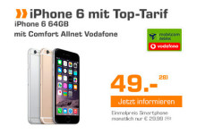 Saturn Apple iPhone 6 64 GB Spacegrau mit Comfort Allnet Vodafone