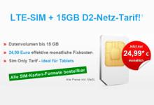 LTE-SIM + 15GB D2-Netz-Tarif