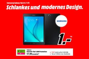 Samsung Galaxy Tab A 9.7 inkl. 1 GB Highspeed-Volumen für nur 7,99 Euro