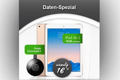 modeo iPad Air 2 WiFi & Cellular + Google Chromecast 2 + Vodafone DataGo L