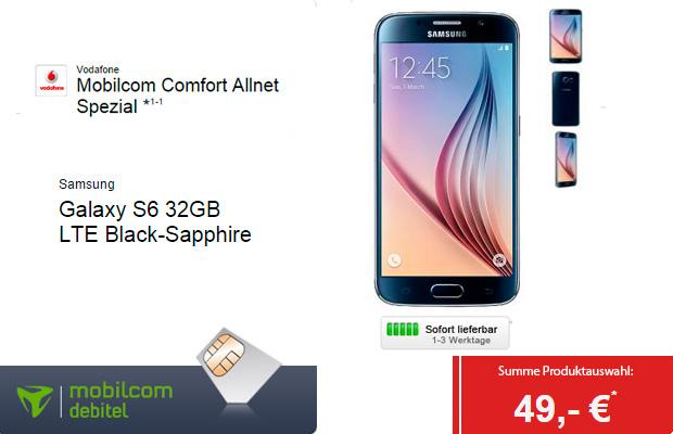 Samsung Galaxy S6 Mobilcom Comfort Allnet Special