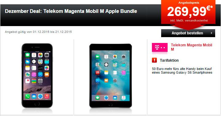 24mobile.de Dezember Deal: Telekom Magenta Mobil M Apple Bundle