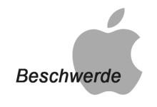 Apple Beschwerde