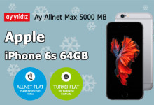 Ay Allnet Max 5000 MB Tarif + iPhone 6s
