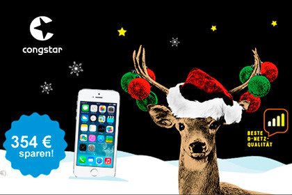 Congstar - iPhone Winterzauber 354,99 Euro