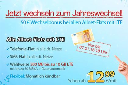 Deutschlandsim alle Allnet-Flats mit LTE