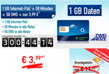 handybude Smart Surf 1 GB Internet-Flat 3,99
