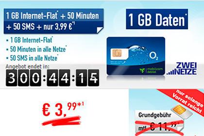 handybude Smart Surf 1 GB Internet-Flat 3,99