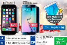 o2 Blue All-in L + Galaxy S6 oder iPhone 6 Aktion