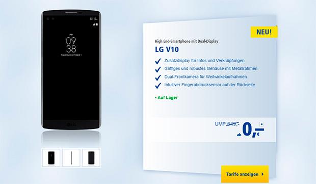 1&1 LG V10