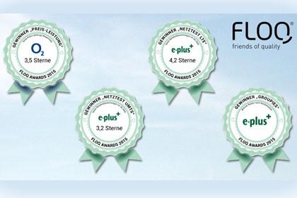 FLOQ Award - o2 und E-plus