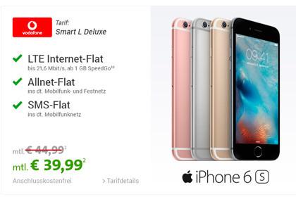 Sparhandy - Vodafone Smart L Deluxe Spezial + Apple iPhone 6s 16GB