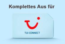 Komplettes Aus für Tui Connect
