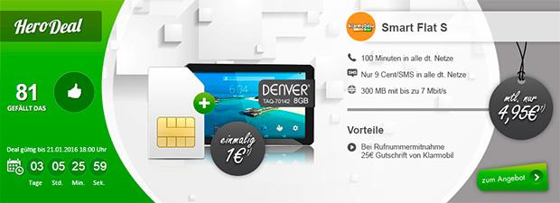 modeo - denver TAQ 70142 8 GB mit Smart-Flat S