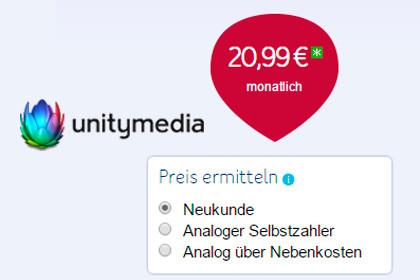 Unitymedia 20,99 Monatlich