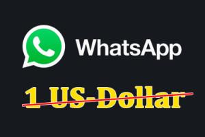 WhatsApp - einen Dollar pro Jahr