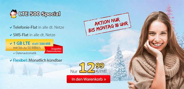 Deutschlandsim LTE 500 Special Aktion
