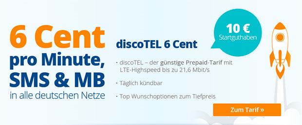 discotel.de 6 Cent Tarif