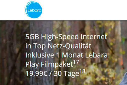 Lebara 5 GB Internet