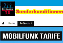 Netcologne Shop Sonderkonditionen