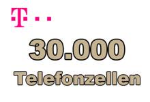 Telekom 30.000 Telefonzellen