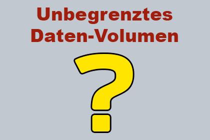 Unbegrenztes Daten-Volumen