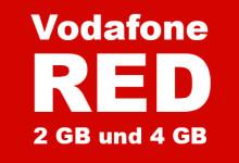 Vodafone RED 2 GB und 4 GB