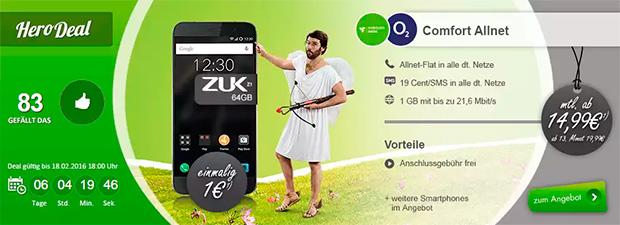 ZUK Z1 mobilcom-debitel o2 Comfort Allnet