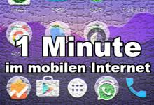 1 Minute im mobilen Internet