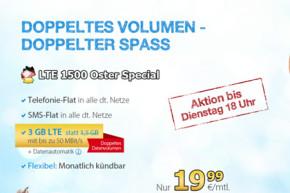 DeutschlandSIM: Sprach- und SMS-Flat mit 3 GB und EU-Einheiten für 19,99 Euro