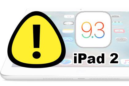 iPad 2 iOS 9.3 Update