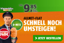 klarmobil Allnet-Flat nur 9,85