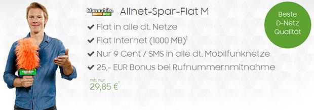 modeo - klarmobil Allnet Spar-Flat M