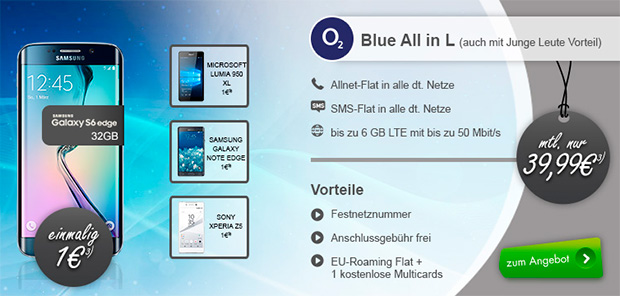 modeo o2 Blue All-in L + Top Smartphone