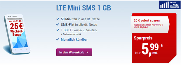 Simply - LTE Mini SMS 1 Gb