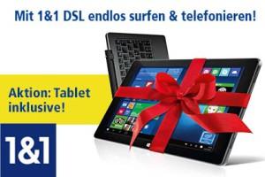 1 und 1 DSL Aktion mit Tablet
