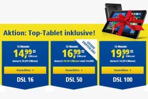 DSL-Angebote von 1&1 mit Gratis-Tablet oder Preisnachlass