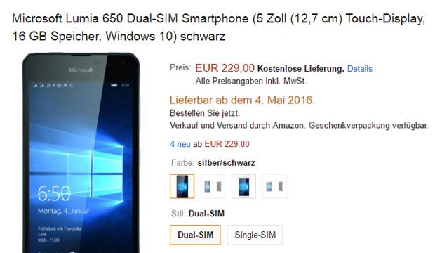 Amazon - Microsoft Lumia 650