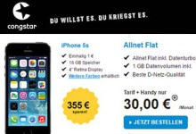 Congstar - iPhone 5S Allnet-Flat