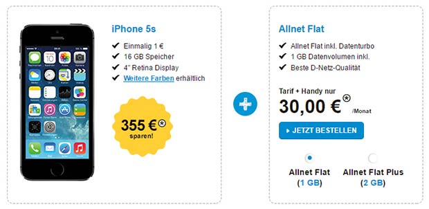 Congstar - iPhone 5S Allnet-Flat