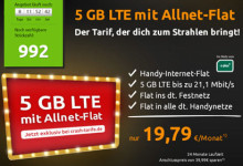 Crash-tarife - mobilcom-debitel 5 GB LTE mit Allnet-Flat