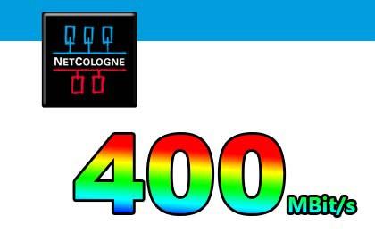 NetCologne 400 Mbit/s