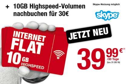 Ortel Mobile - 10 GB Highspeed-Volumen