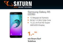 Saturn - Samsung Galaxy A5 für 1 Euro mit Wenignutzer-Tarif