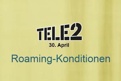 Tele2 - Rroaming-Konditionen