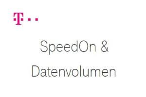 Telekom - SpeedOn & Datenvolumen
