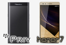 Blackberry Priv und Honor 7